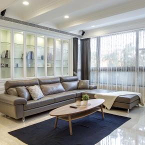 新古典风装修效果图:完美布局三代同堂百坪宅