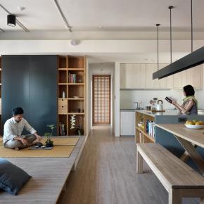 日式禅风装修效果图:Woodiness