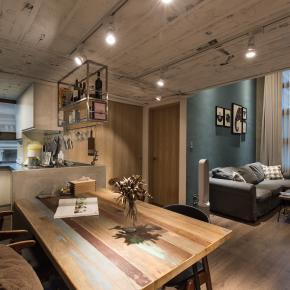 LOFT风装修效果图:微装修的26坪粗犷质朴宅