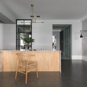 新古典风装修效果图:纯粹优雅的冷色质感宅
