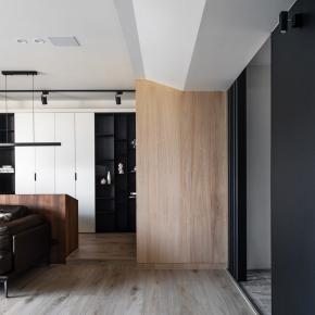 现代风装修效果图:低彩度质感宅