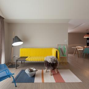 北欧风装修效果图:36坪色彩缤纷的亲子宅