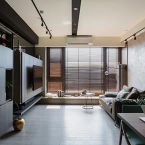 现代风装修效果图:25坪的舒活休闲宅