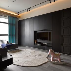 混搭风装修效果图:28坪的混搭低调质感宅