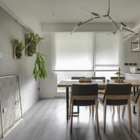 北欧风装修效果图:28 坪清新北欧亲子宅