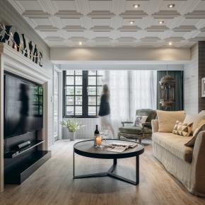 混搭风装修效果图:Little Apt lounge A+B