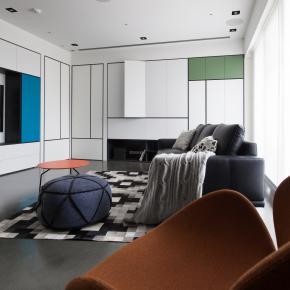 北欧风装修效果图:46坪富含艺术感的居家空间