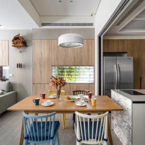 现代风装修效果图:引光入室亲子宅