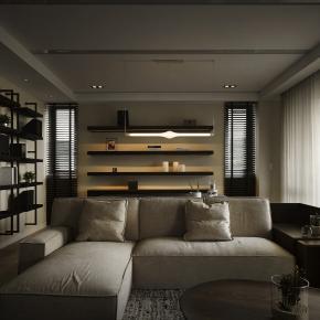 现代风装修效果图:Y houseII