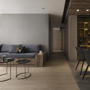 现代风装修效果图:L宅