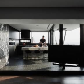 现代风装修效果图: L宅