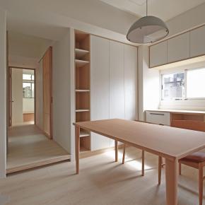 北欧风装修效果图:21坪日式北欧收纳宅