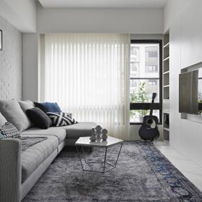北欧风装修效果图:17.5坪北欧美宅