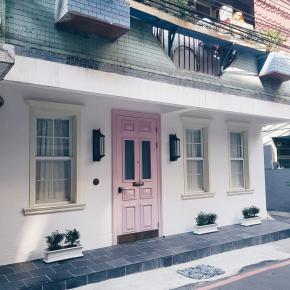 休闲多元风装修效果图:粉白公寓