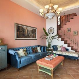 Casa de Campo湛藍, 透天別墅的南歐境