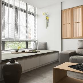 简约风装修效果图:40坪超明亮的绿意阳光宅!