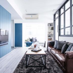 北欧风装修效果图:蔚蓝公寓