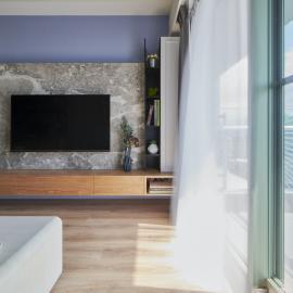 浪漫的紫羅蘭紫色配上華麗的金屬質感 打造低調華麗的新古典小宅